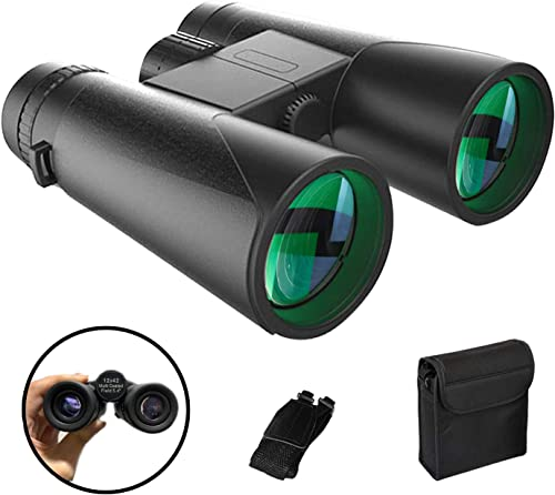 Binoculars for Adults Bird Watching, 10×42 Night Vision Compact Optics Spectator, High Powered Binoculars for Travel Hunting Outdoor Sports Games and Concerts