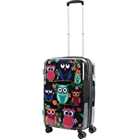 Owls 20 in Carry-On Expandable Spinner Luggage w/TSA Lock Deals