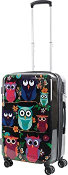 Owls 20 in Carry-On Expandable Spinner Luggage w/TSA Lock