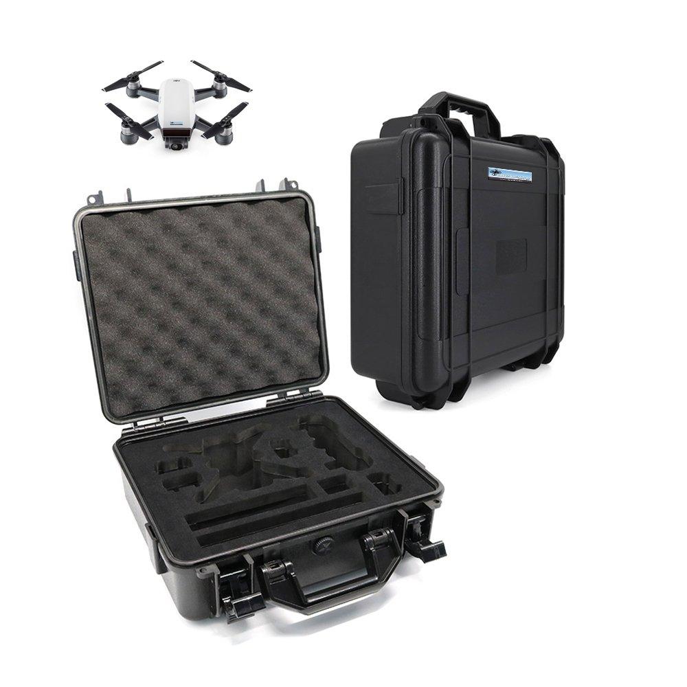 DROHNENSTORE24.DE ...DER DROHNEN-GURU Sicherheits Koffer mit Griff für DJI Spark - Transportkoffer - Schwarzes Case - für einfachen und sicheren Transport - Anti-Explosions Case