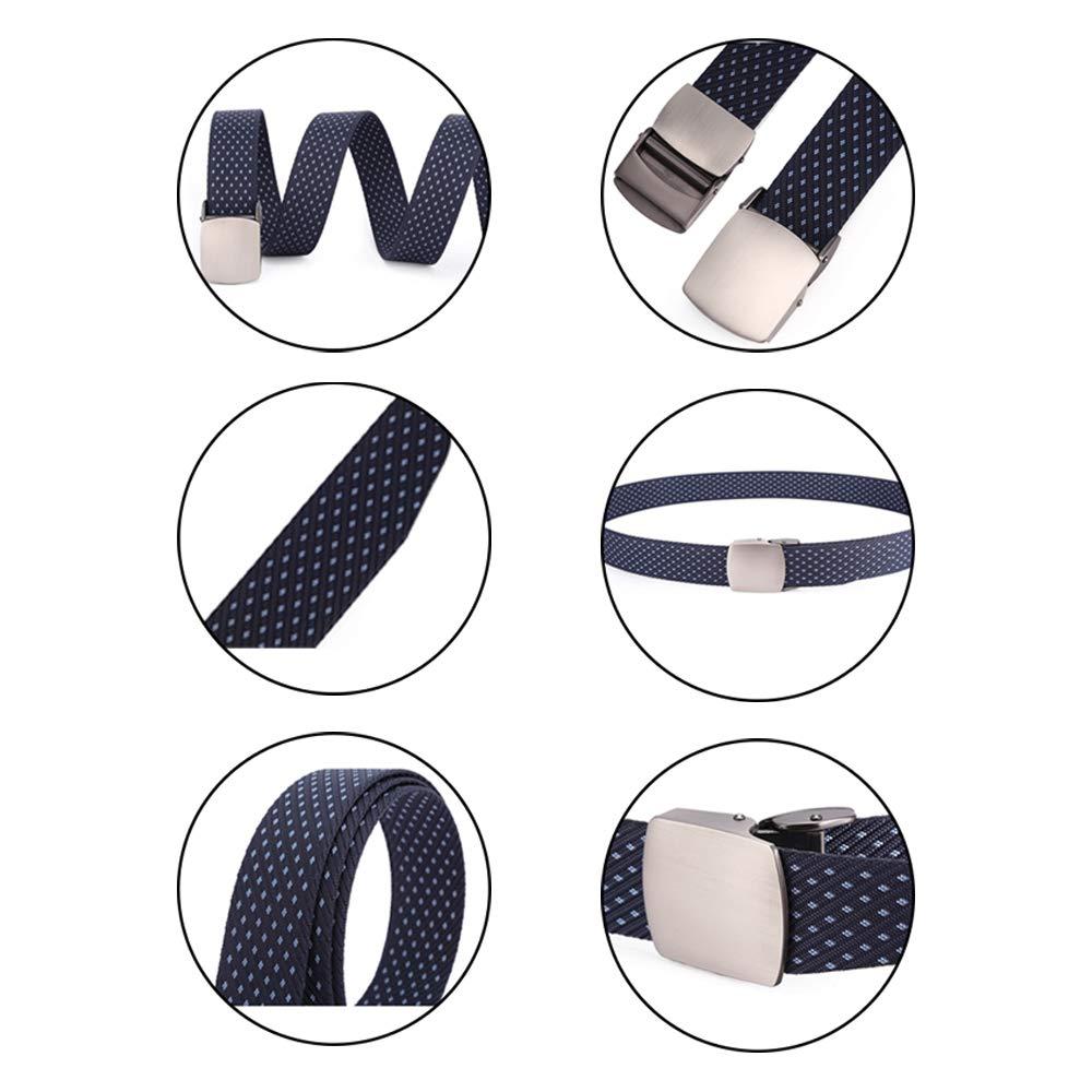Printing Webbing Waist Belt Pressing Alloy Buckle BOZEVON Mens Nylon Belts