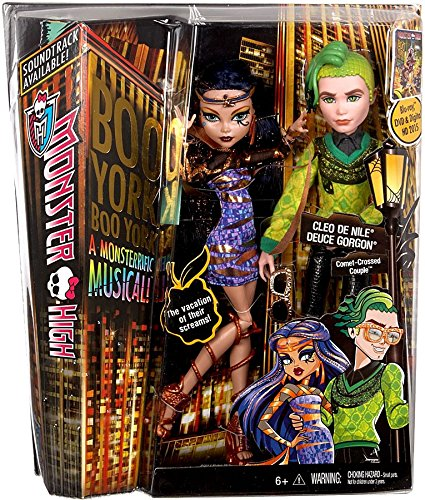 (Monster High Boo York, Boo York Comet-Crossed Couple Cleo de Nile and Deuce Gorgon Doll, 2-Pack (Discontinued by)