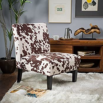 High Quality Kalee Cow Print Fabric Dining Chair (Set Of 2)