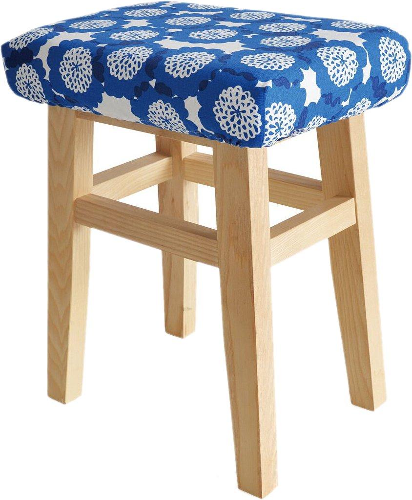 ルネデュー スツール ブルー 本体サイズ:36×26×45cm B06XCM6JW1 ブルー