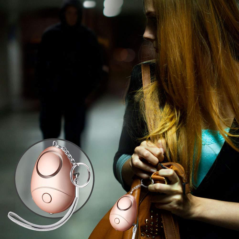 5 St/ück sicherer pers/önlicher Alarm Safesound Sicherheit Notfallalarm mit LED-Taschenlampe f/ür Frauen M/ädchen Kinder /ältere Nachtl/äufer 130 dB pers/önlicher Sicherheits-Alarm Schl/üsselanh/änger
