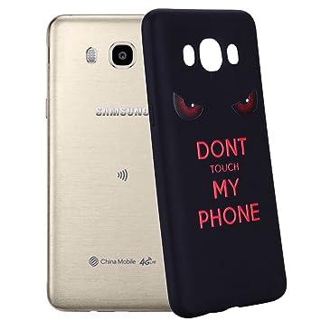 Yunbaozi Funda Compatible para Samsung Galaxy J5 2016 Carcasa Impresión NO Tocar MI TELÉFONO