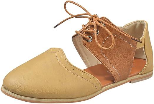 Yvelands Sandales Femmes Bout Pointu Rome Chaussures Frapper