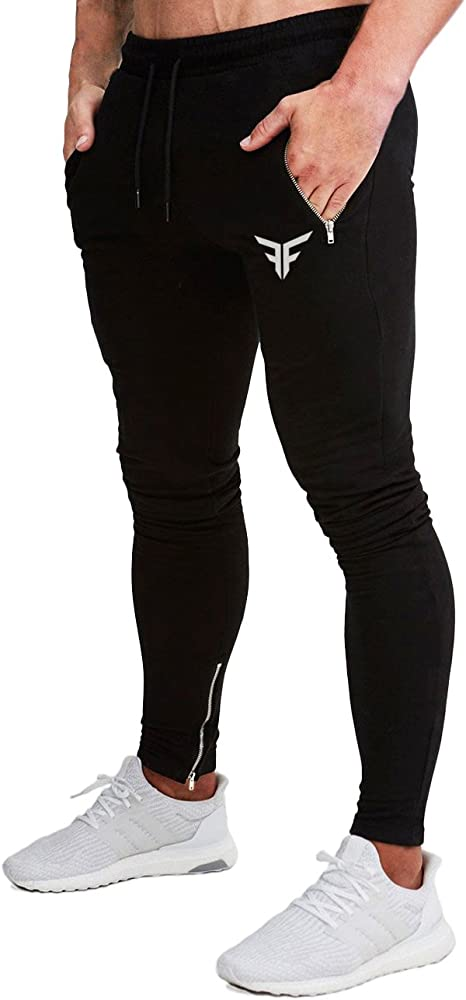 FLYFIREFLY Pantalones de Gimnasio para Hombre, Ajustados ...