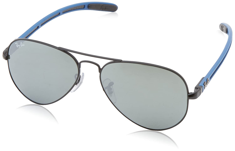 697865b9b8 Ray-Ban 8307 006 40 Matte Black 8307 Aviator Sunglasses Driving Lens  Category 2  Amazon.co.uk  Clothing