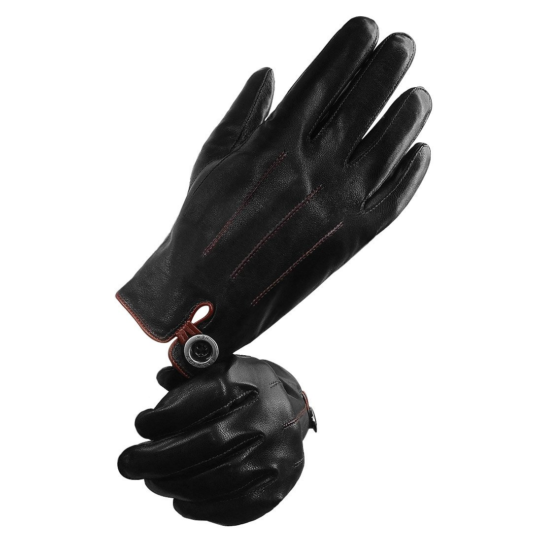 0e455040a12e1 LETHMIK Men's Genuine Leather Gloves Winter Touchscreen Stylish Warm  Driving Gloves at Amazon Men's Clothing store: