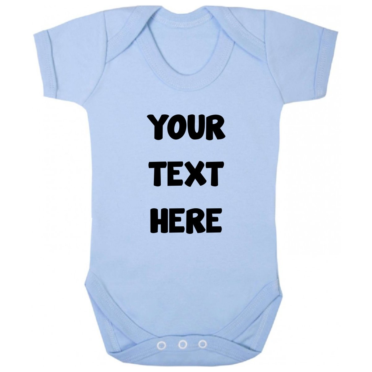 7b63d545 Purple Penguin Clothing Baby Grow - Personalised Your Text Here Design Your  Own product image