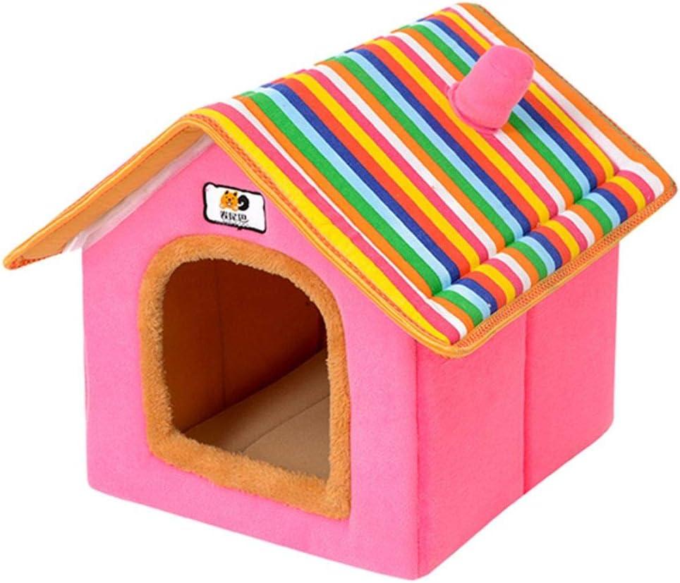 33x28x35cm Cesta para Mascotas Hecha de Felpa 5 Colores Diferentes y 4 tama/ños Lavable y a Prueba de ara/ñazos casa para los Perros y Gatos Style 1, S
