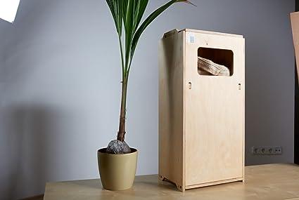 Papelera de reciclaje, pino soreso 40L spooff 100% madera sostenible certificada FSC