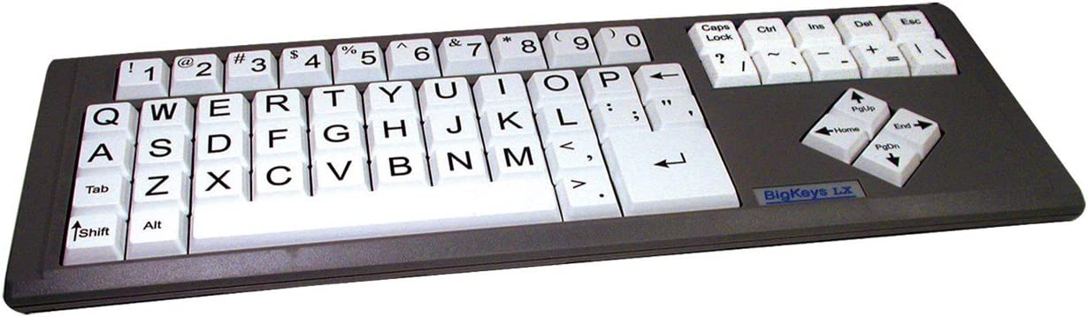 White QWERTY Big Keys LX