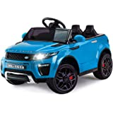 Rovo Kids Range Rover Evoque Inspired 12v Ride On Car with Charger and Remote Control, Blue