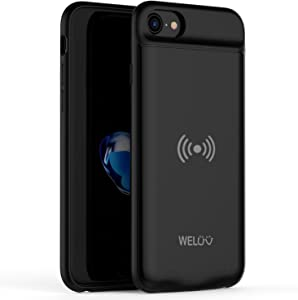 for iPhone 8 Plus 7 Plus 6s Plus 6 Plus Wireless Battery Case 4000mAh Ultra Slim Rechargeable Cover QI Standard Wireless Charging Extended Backup Protective Shell 5.5