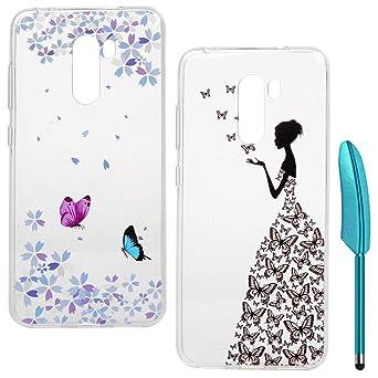 2x Handy Schutz Hülle Für Xiaomi Pocophone F1 Case Tpu Silikon