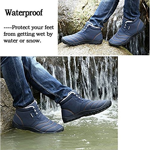 nieve más botas al Negro libre de de aire terciopelo impermeable antideslizante zapatos WAWEN de botas invierno para forro mujer PqBvvI