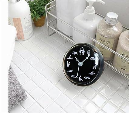 Reloj de Pared 3D Reloj creativo del cuarto de baño / WC / reloj impermeable del