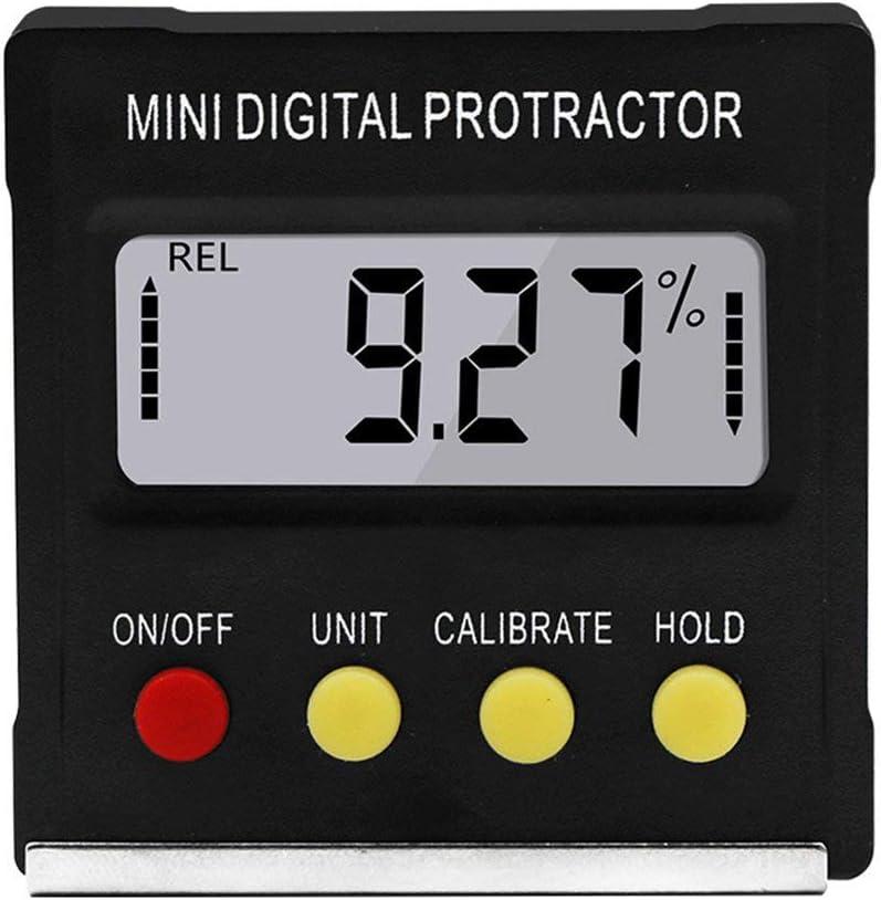 360 Gradi Mini Goniometro Digitale Inclinometro Elettronico Livello Box Magnetico Base Strumenti Di Misura