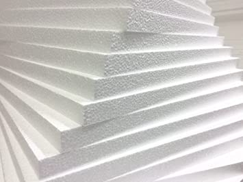 6 x POLYSTYRENE SHEETS EPS 70 EXPANDED POLYSTYRENE FOAM INSULATION SHEETS  BOARD SLABS ** FASTEST DELIVERY ** By Wellpack Europe (50MM (2