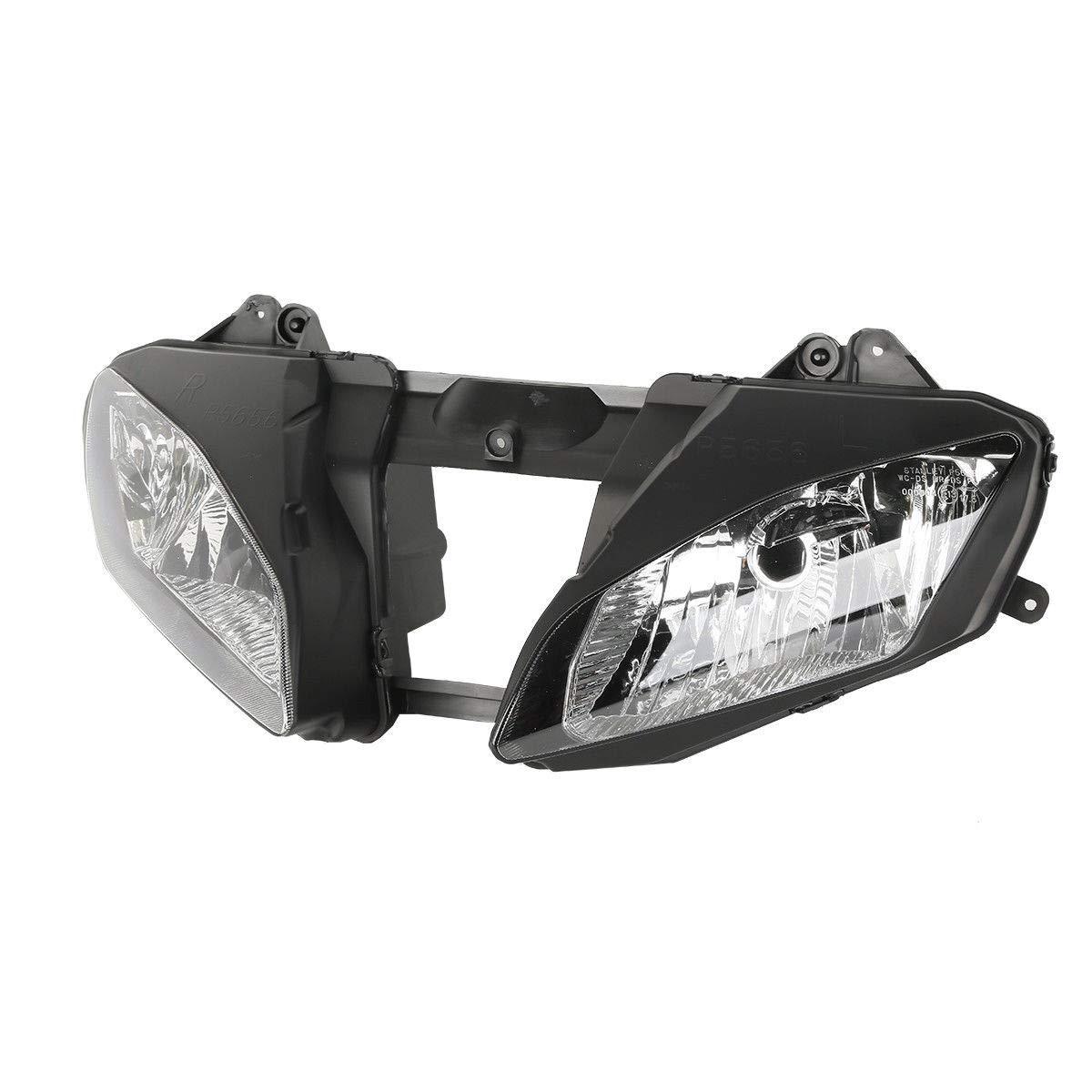 TCMT Black Front Headlight Head Light Lamp Fits For Yamaha YZF-R6 YZFR6 2006-2007