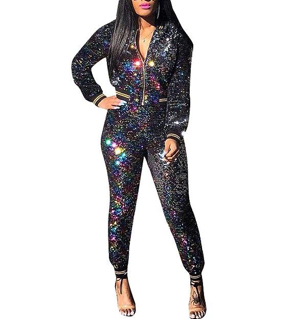Amazon.com: Vestido para mujer con lentejuelas brillantes, 2 ...