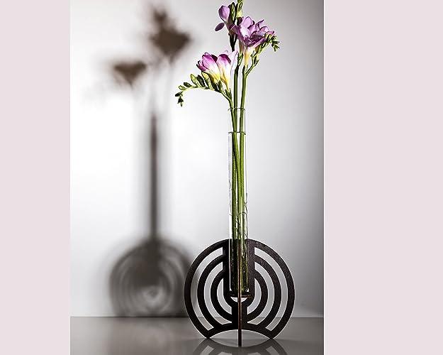 Amazon Com Modern Vase Wooden Handmade Wooden Bud Vase Diy Gift