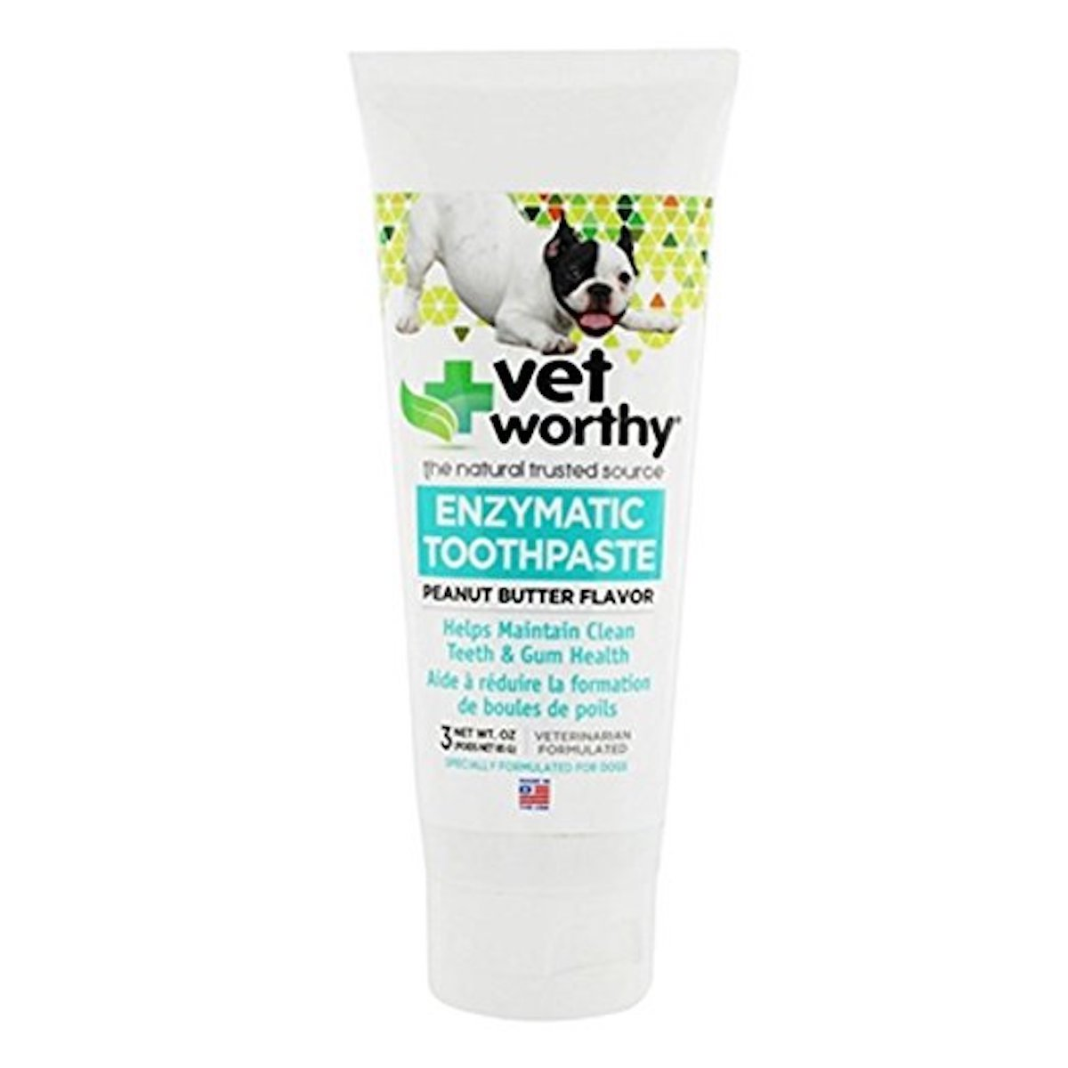 Enzymatic Toothpaste for Dogs Peanut Butter for Dental Care Clean Teeth and Gum Health Made in USA by VetWorth Dog Toothpaste