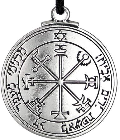 Pewter Key of Solomon Pentacle of Jupiter Talisman Pendant