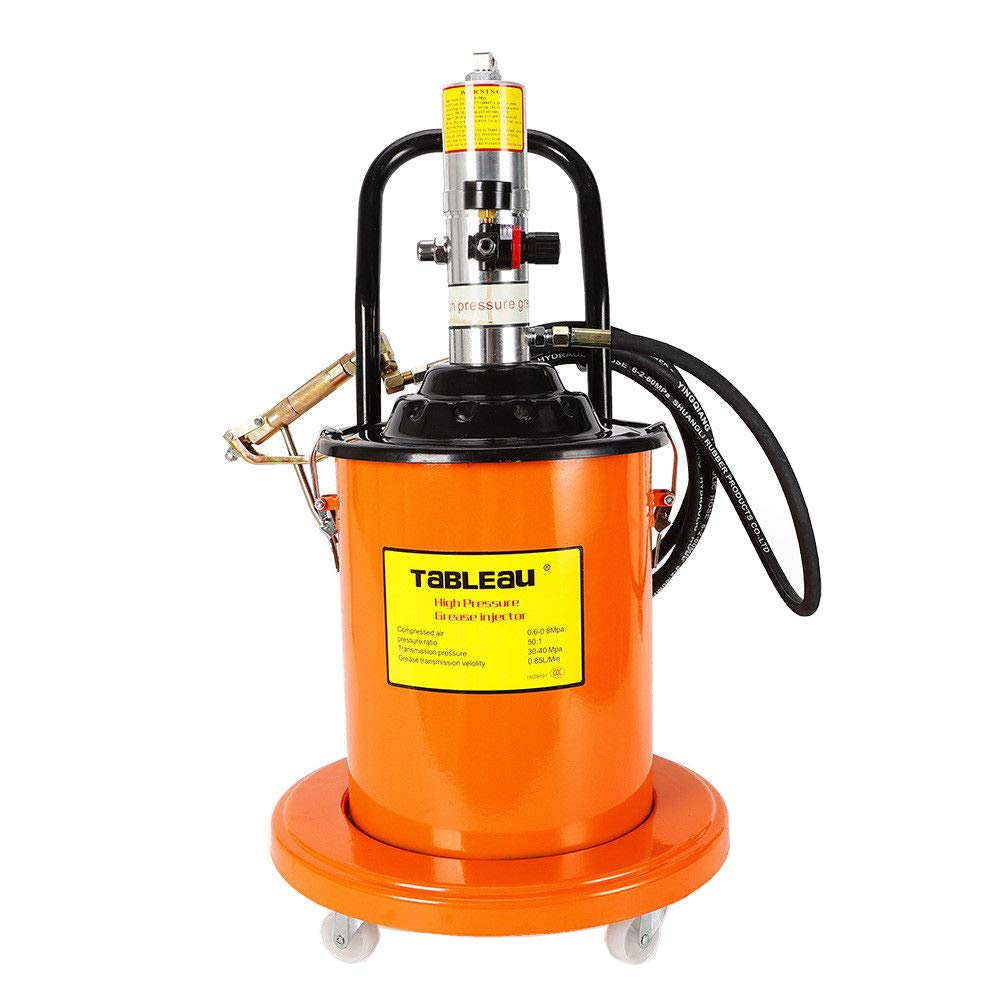 High Pressure Grease Pump,5 Gallons Portable Grease Pump with 4M Hydraulic Hose(US Stock)