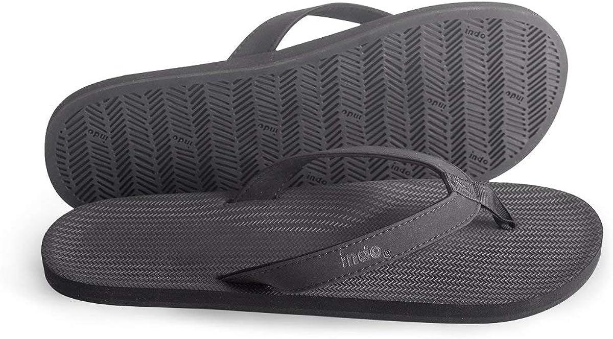 Indosole Directly managed store Men's Max 54% OFF ESSNTLS Vegan Flip Flops Tire Reused Natur Sole