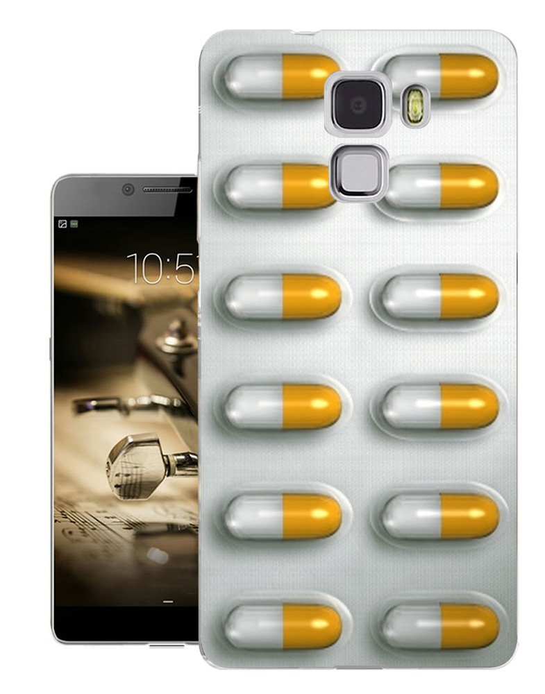 Amazon.com: C0744 - Pills In Pack Yellow And White Pills Addiction Design  Huawei Ascend G8/Huawei G7 pLUS 5.5'' Fashion Trend CASE Gel Rubber  Silicone All ...