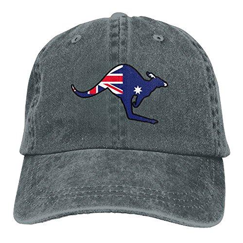 UCOOLE Bandera de Australia con Sombrero Kangaroo Dad Ajustable Vaquero Gorra Clásica de Béisbol, Asphalt, Talla única