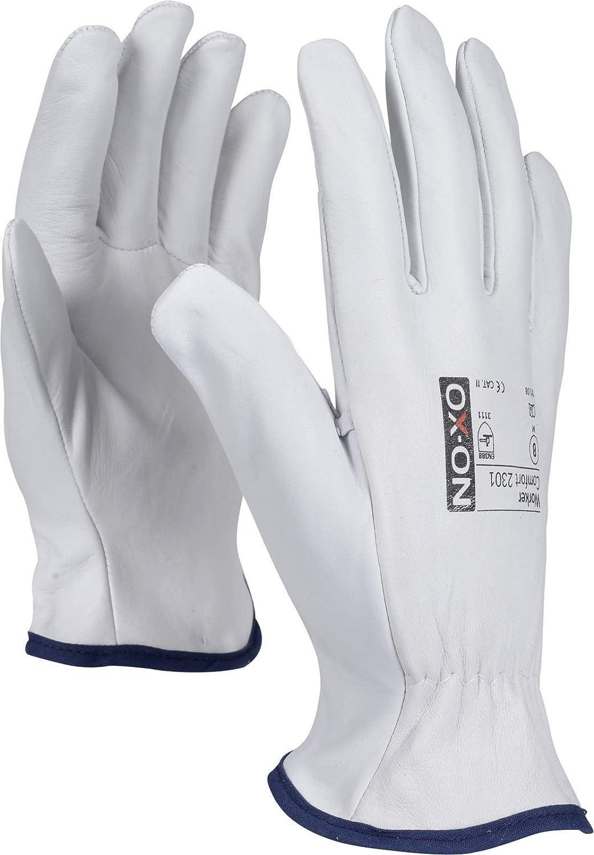7 bis 11 HandschuhMan 10//XL weiche Lederhandschuhe aus Ziegenleder Gr OX-ON Vollleder Arbeitshandschuhe