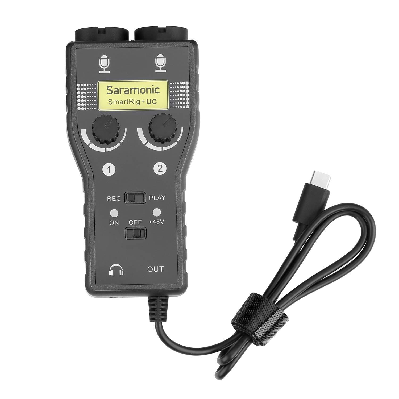 Saramonic SmartRig + UC 2-Track XLR y mezclador de micróf...