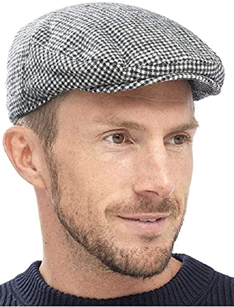 2019 Hats Deals Black Grey Herringbone Newsboy Baker Boy Tweed Flat Cap Mens Gatsby Hat