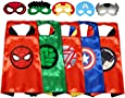 Gream baby Superhero Capes with Masks Dress up Costumes for Boys Birthday Party Favors for Kids (5 Sets)