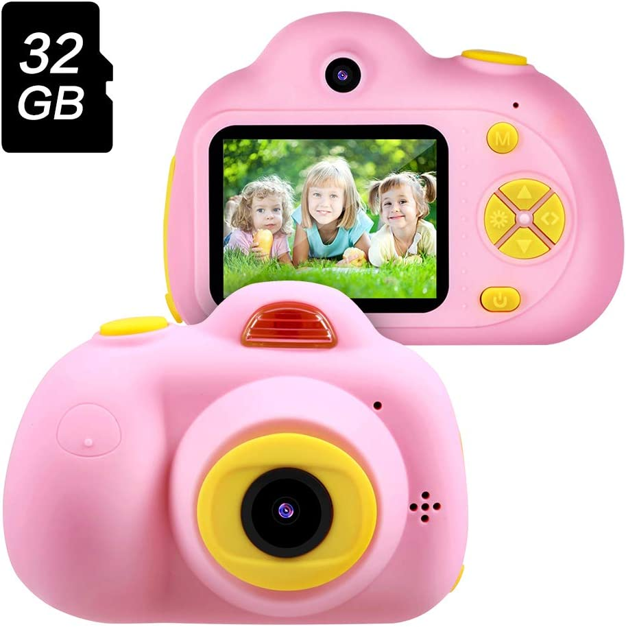 Amazon Com Gifts For 3 4 5 6 Year Old Girls Omway Kids Camera For Girls Easter Gifts For Kids Outdoor Toys For 5 6 7 8 Year Old Toddlers Children 8mp Hd Video Camera Pink 32gb