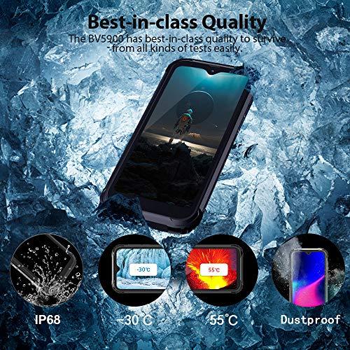 Telephone Portable Incassable, Blackview® BV5900 Smartphone Débloqué 4G (5.7Pouces, 3GO+32GO, Batterie 5580mAh, 13MP+0… 2