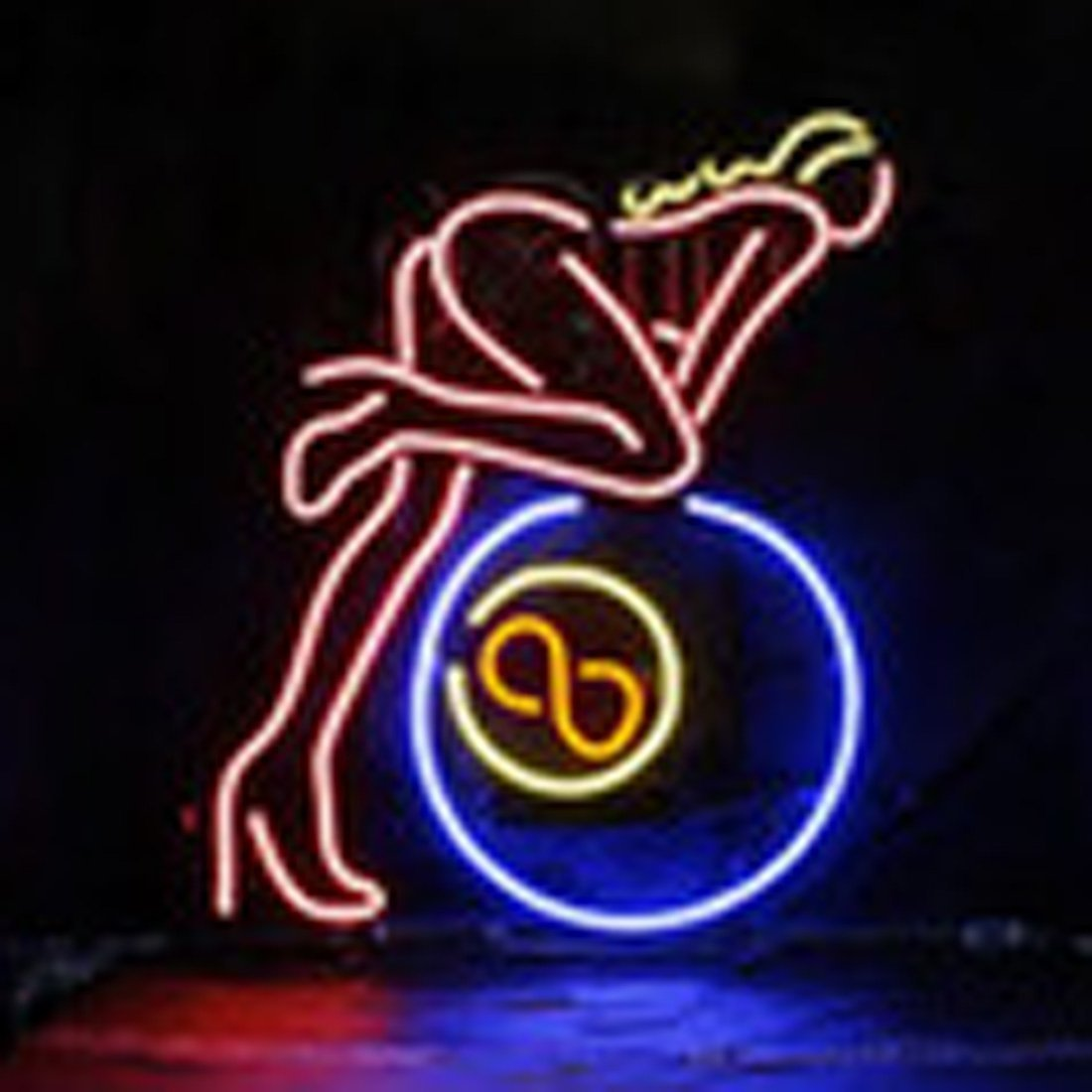 Urby™ 17''x14'' Open Sexy Lady Custom Handmade Glass Tube Neon Light Sign 3-Year Warranty-Unique Artwork! UA22 by Urby