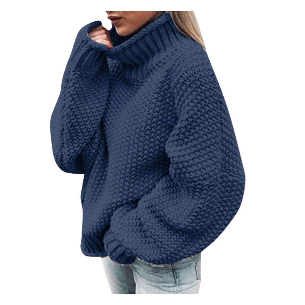 Elecenty Maglione da Donna Maniche Lunghe Invernali Eleganti Moda Abbigliamento Sweater Elegante Baggy Jumper Top Casual Giuntura Maglione Pullover