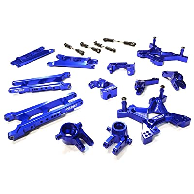 Integy RC Model Hop-ups C26319BLUE Billet Machined T3 Suspension Kit for 1/10 Stampede 4X4 & Slash 4X4 (Non-LCG): Toys & Games