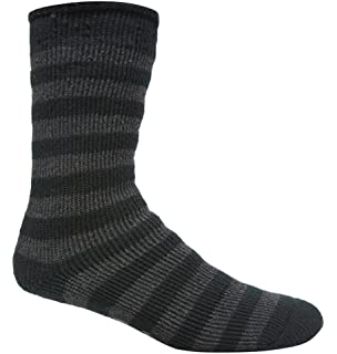 REDTAG Girls Striped Extreme Thermal Non-Slip Slipper Socks