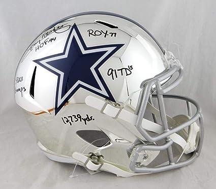 Amazon.com  Tony Dorsett Autographed Helmet - F S Chrome w 5 Insc W ... a476a20b4