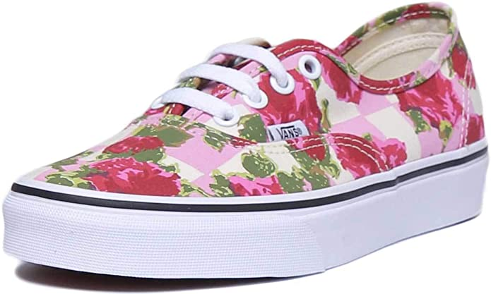 Vans Authentic Sneakers Damen Herren Unisex Bunt Blumen (Rosa)