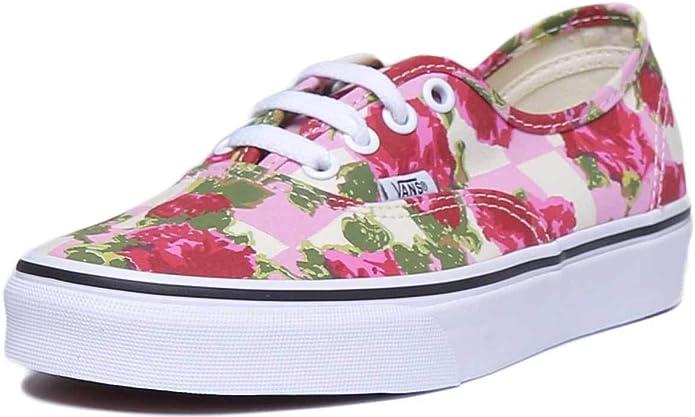 Vans Authentic Sneakers Damen Herren Unisex Bunt Blumen (Rosa)