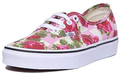 vans flower print sneakers