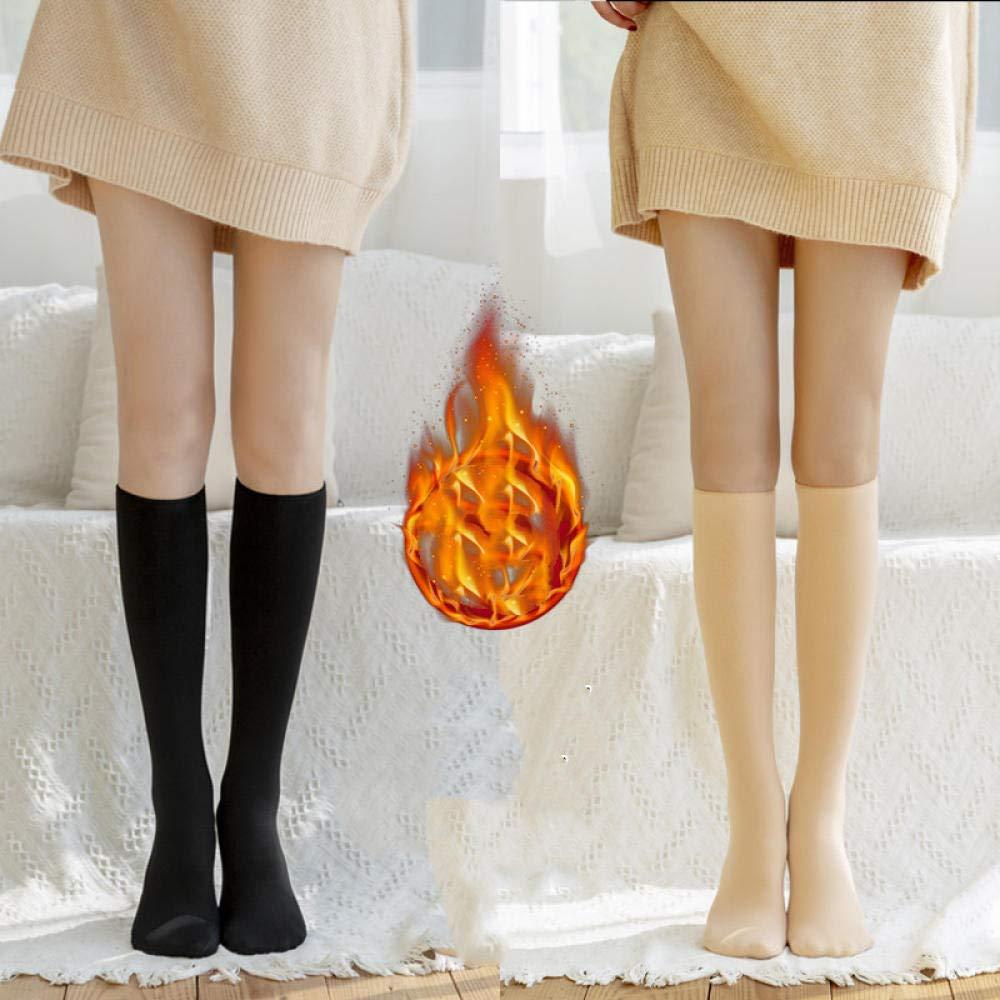 Yanxinenjoy Medias hasta media rodilla, medias de pantorrilla, medias largas, medias gruesas y cálidas, 2 pares-Talla única_Un: Amazon.es: Ropa y accesorios
