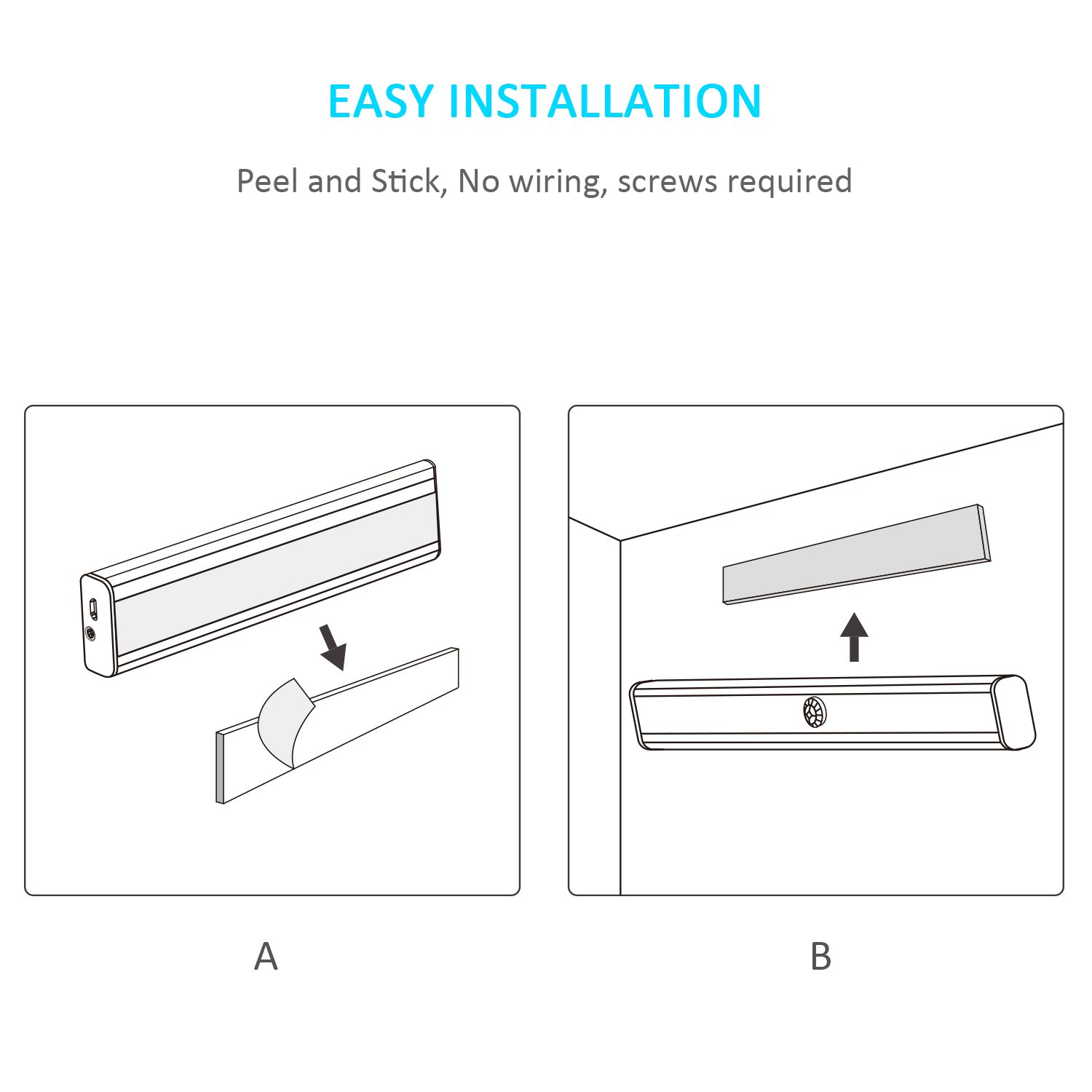 Wireless Led Closet Lights Megulla 14led Rechargeable Battery Wiring New Light Operated Stick On Anywhere Portable Night For Under Cabinet Cupboards Stairs